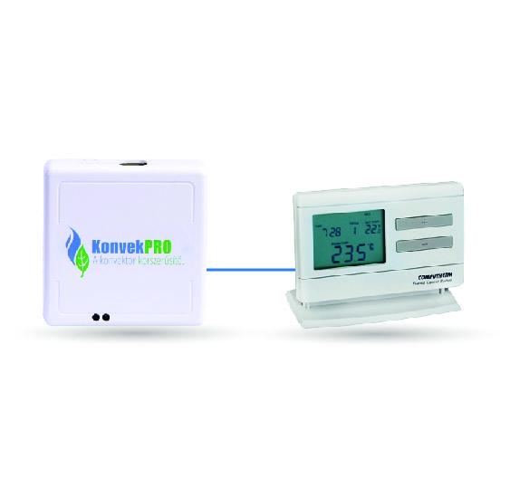 KonvekPRO - gázkonvektor vezérlés szobatermosztáttal